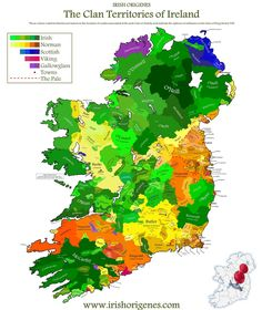 Clan Map of Ireland - Irish Origenes: Use Family Tree DNA to Discover Your Genetic Origins - Irish Surnames Map Ireland Map, Ireland Travel, Tipperary Ireland, Travel Europe, Irish Roots, Irish Celtic, The Irish, Thinking Day, England