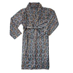 Relax among a lavish variety of Indian sari colors and prints, lounging in this comfortable, light, cotton robe, a patchwork of upcycled sari fabric strips. Men's Robes, Unique Gifts For Dad, Sari Fabric, Fabric Strips, Ikat, Style Me, Personal Style, Mens Fashion, Stylish