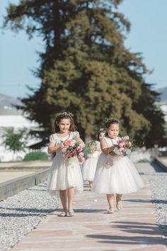 Adorable flower girl duo: http://www.stylemepretty.com/california-weddings/2015/08/25/glamorous-garden-inspired-ranch-wedding-in-santa-paula/   Photography: Anna Delores - http://www.annadelores.com/