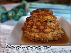 Wow! Burst of lemon-blueberry flavor in these dairy & gluten free Swedish pancakes. Yum! Yum!