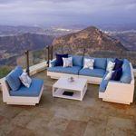 Portofino Comfort™ Chalk & Blue 6-Piece Sectional Set