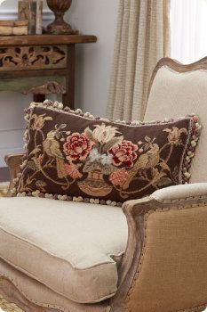 Make your home beautifully cozy with luxury bedding & home decor from Soft Surroundings. From knit blankets to throw pillows, shop from our timeless bed & home decor collections today. Needlepoint Designs, Needlepoint Pillows, Vintage Pillows, French Furniture, Soft Surroundings, French Country Decorating, Pillow Talk, Autumn Home, Rug Hooking