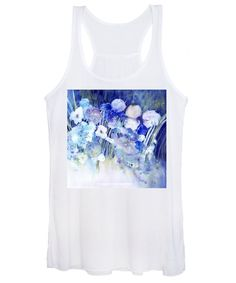 Spring Garden Women's Tank Top featuring the painting Spring Garden with Iris Flowers by Sabina Von Arx and Regina Panizzon Creative Colour, Iris Flowers, White Image, Spring Garden, Tank Tops, Sweatshirts, Painting, Fashion, Moda