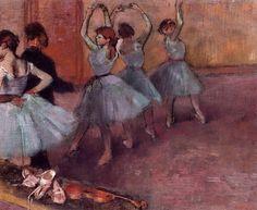 Bailarinas de azul claro, Edgar Degas