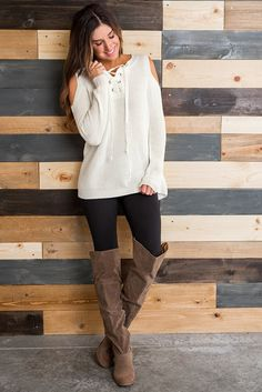 Loyalty Cold Shoulder Knit Sweater (Natural)