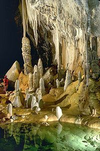 This image is from Lechuguilla cave - considered to be the most beautiful cave - last I checked, you can only get access if you're a scientist who signs an agreement not to disclose the location of the entrance. Lechuguilla is pretty much a Mecca to any caver who knows anything about caving!