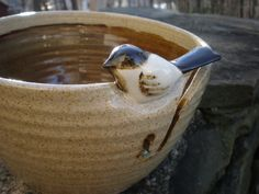 Little Bird Yarn Bowl Custom Bird Yarn Bowl by aaharrison on Etsy.