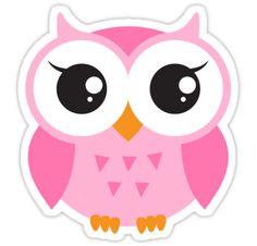 Shop Cute pink cartoon baby owl poster created by BrightAndBreezy. Owl Cartoon, Baby Cartoon, Birthday Clipart, Owl Crafts, Pink Owl, Boy Decor, Owl Art, Baby Owls, Cute Owl
