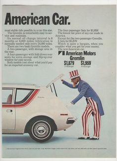 """The next time you'd see a guy in a bad costume driving an AMC product, the car would be a Pacer and the guy would be a Hollywood actor. Funny how """"AMC"""" was seemingly always synonymous with """"loser cruisers."""""""