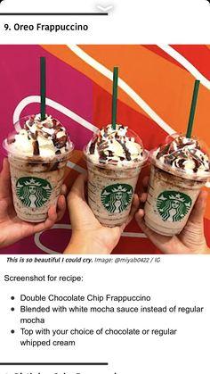 Secret Starbucks Drinks, Starbucks Secret Menu Drinks, Starbucks Coffee, Starbucks Hacks, Starbucks Gold, Yummy Drinks, Delicious Desserts, Yummy Food, Yummy Snacks