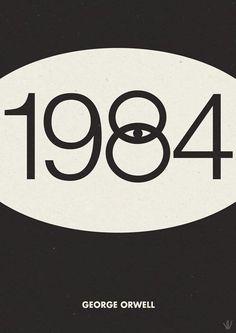 George Orwell 1984 minimalist poster