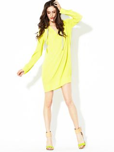 Love is not strong enough of a word for this DVF Karlian Crepe Drawstring Tunic.