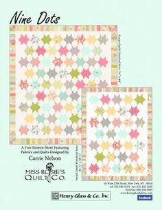 Fat Quarter quilt pattern (free)
