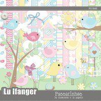 Kit Digital Passarinhos by Lu Ifanger