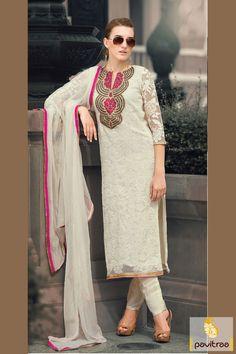 Pavitraa Beige Color Casual Salwar Kameez Rs 3858.3 #pakistanisalwarsuits #salwarsuits #onlinesalwarsuits