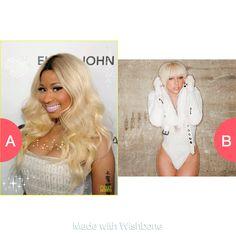 Nicki Minaj or lady Gaga  Click here to vote @ http://getwishboneapp.com/share/1047218