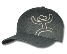 Hooey® Men's Link FlexFit Black With Stitched Hooey Logo Cap
