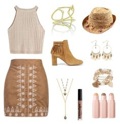 """Boho Bronze"" by dirazlla on Polyvore featuring WithChic, Tabitha Simmons, NYX, Lacey Ryan and Marcus Adler"
