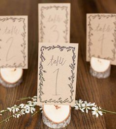 Winter Wedding Stationary Inspiration, elegant, garland, wedding ideas, table numbers, bohemian, romantic