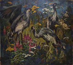 """Crane Field"" by artist Anatoliy Dyagilev (1935-2001)"