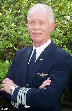 """Captain Chelsey """"Sully"""" Sullenberger, the pilot who successfully ditched US Airways Flight 1549, which had been disabled by striking a flock of Canada geese during its initial climb out, in the Hudson River off Manhattan, New York City, on January 15, 2009. All of the 155 passengers and crew aboard the aircraft survived."""