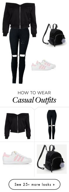 """Casual"" by zooba-m on Polyvore featuring adidas"