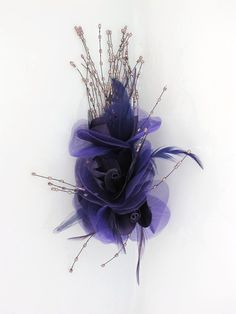 Image detail for -Purple Organza Flower and Sequin Clip Fascinator - Prettycool.co.uk