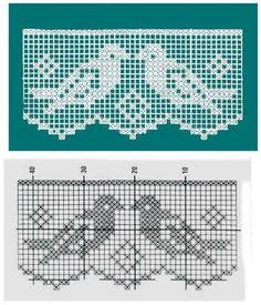 Crochet Ideas - Crochet Ideas At Your Fingertips! Crochet Boarders, Crochet Lace Edging, Crochet Motifs, Crochet Doilies, Easy Crochet, Crochet Stitches, Crochet Patterns, Crochet Squares, Crochet Birds