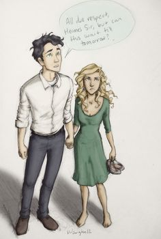 """Percabeth. """"All due respect, but we're kind of in the middle of a date and we'd like to continue. So... yeah."""""""