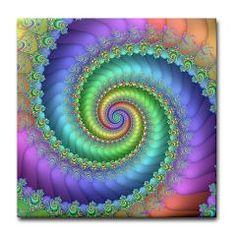 Fractal Art in pastel rainbow colors