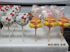 Hello Kitty & The Lorax Cake Pops are just great for any girl or boy's birthday