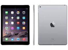 """iPad Air 2 Apple 128GB Cinza Espacial Tela 9,7"""" - Retina Proc. M8 Câm. 8MP + Frontal iOS 8 Touch ID com as melhores condições você encontra no Magazine Docedigital. Confira!"""