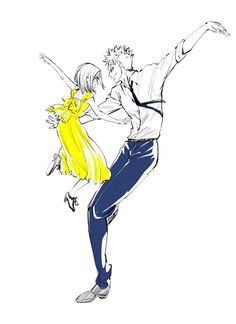 Ban and Elaine swing dancing ❤️ Lalaland Seven Deadly Sins Anime, 7 Deadly Sins, Yandere Anime, Manga Anime, Ban And Elaine, Harley Quinn Drawing, 7 Sins, Seven Deady Sins, Sailor Moon