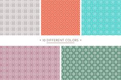 Set of 10 simple patterns Vol. 1 ~ Patterns on Creative Market