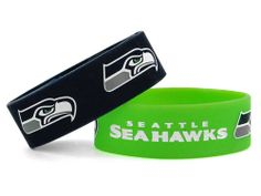 Seattle Seahawks AMINCO INC. Wide Bracelet 2pk Aminco