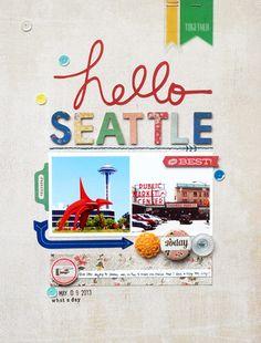 In a Creative Bubble: Basic Grey: Hello Seattle