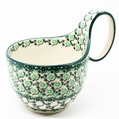 """5"""" H x 4 1/4"""" W x 6 1/4"""" L - Quality 1 Guaranteed from the renowned Ceramika Artystyczna Boleslawiec - Polish Pottery is Oven, Microwave, and Dishwasher Safe! - Hand Painted and Stamped by Highly Skil"""