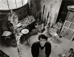 Robert Doisneau   Alberto Giacometti dans son atelier (Alberto Giacometti in his atelier) (1957)   Artsy