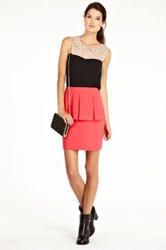 Bow Peplum Skirt
