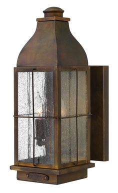 Features:  -Outdoor wall lantern.  -Number of lights: 2.  -Glass type: Clear seedy.  -Outdoor listed: Yes.  -Safety rating: C-UL-us wet listed.  Product Type: -Wall lantern.  Fixture Material: -Metal.