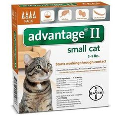 Flea and Tick Remedies 20738: Bayer Advantage Ii For Cats 5 - 9 Lb 144 Fl Oz -> BUY IT NOW ONLY: $30 on eBay!