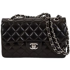 Pre-Owned Chanel Black Lambskin Double Flap Bag (14.840 BRL) ❤ liked on Polyvore featuring home, home improvement, storage & organization, bags, chanel, purses, black, chanel bags and filler
