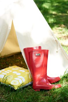 Every camping trip demands a pair of wellies. One can never trust the great British weather!