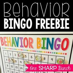 """Encourage positive behavior with """"Behavior Bingo,"""" a simple, fun and effective classroom management strategy!Check out these other behavior management packs...Group Behavior Game Boards includes 12 monthly game boards to encourage teamwork!Flipping for Good Behavior includes 10 monthly rewards, as well as 12 anytime rewards."""
