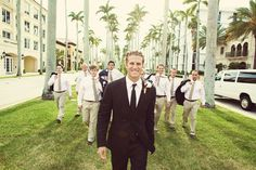 Cool photo of the groom's party. Wedding ideas.