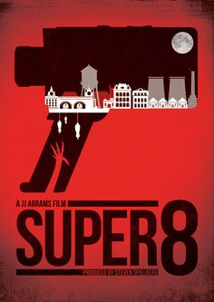 Super 8 (2011) ~ Minimal Movie Poster by Matt Needle #amusementphile
