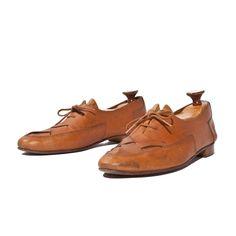 Vintage Woven Leather Oxfords Golden Brown Bohemian Dress Shoes Men's Size 8 Narrow or Women's Size 9 1/2 - 10. $38.00, via Etsy.