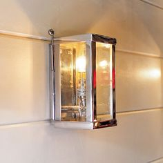 An extremely solid and beautifully made outside or bathroom wall lantern. Internal mirrored glass provides a quality wall lighting effect. Pulley Wall Light, Wall, Wall Lights, Outdoor Lamp, Wall Lighting Company, Industrial Style Bathroom, Festoon Lighting, Glass Wall Lights, Outdoor Wall Lantern