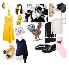 """""""Y!OI one of the gang"""" by crythin on Polyvore featuring Dolce&Gabbana, Corneliani, ASOS, Whimsical Watches, Soulland, NOVICA, Victoria Beckham, Alexis Bittar and Effy Jewelry"""