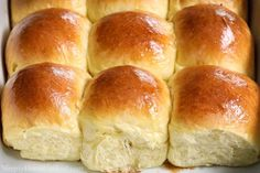 Close up of nine Soft Brioche Dinner Rolls. Best Dinner Roll Recipe, Best Bread Recipe, Classic Dinner Rolls Recipe, Brioche Rolls, Brioche Bread, Yeast Bread, Soft Rolls Recipe, Bread Machine Recipes, Bread Recipes